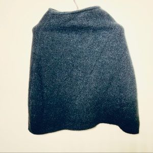 Kulson wool/mohair shawl size small black